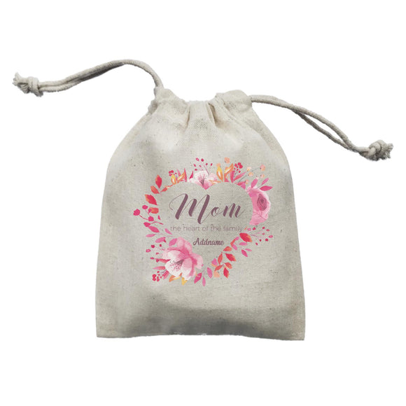 Sweet Mom Heart Mom The Heart of The Family Addname Mini Accessories Mini Pouch
