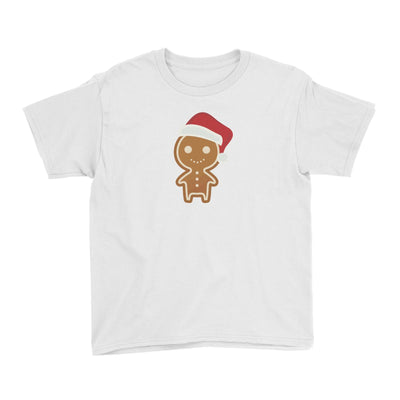 Cute Gingerbread Man with Santa Hat Kid's T-Shirt Christmas Matching Family Funny