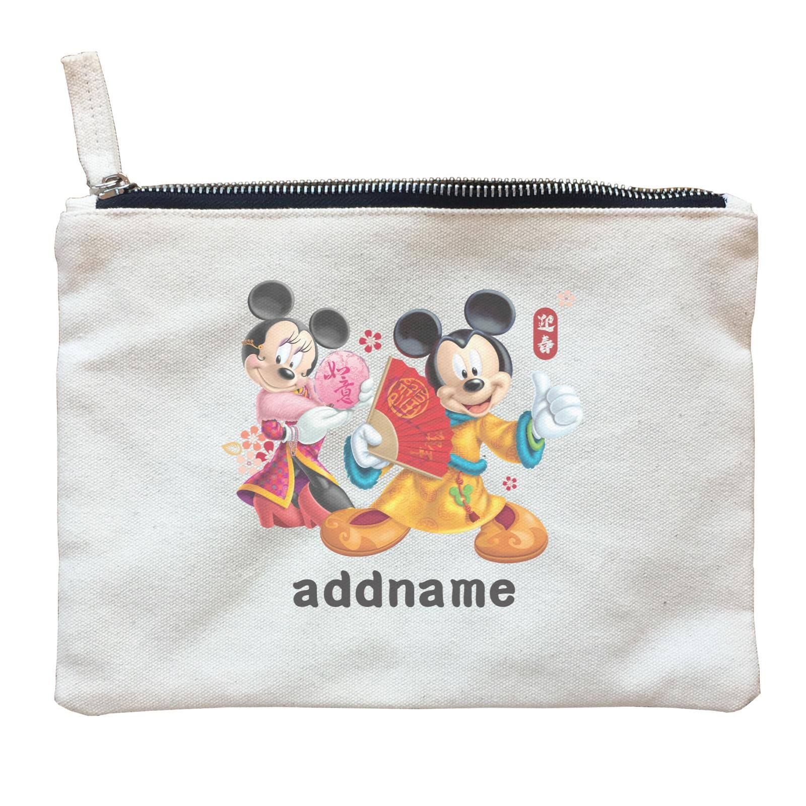 Disney CNY Mickey And Minnie Personalised ZP Zipper Pouch