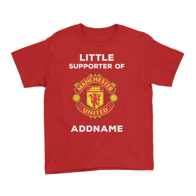Manchester United FC Little Supporter Personalizable with Name Kid's T-Shirt