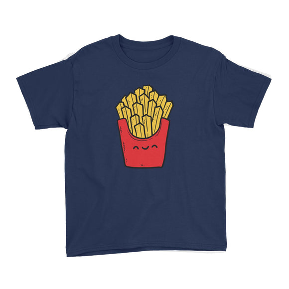 Fast Food Fries Kid's T-Shirt  Matching Family Comic Cartoon