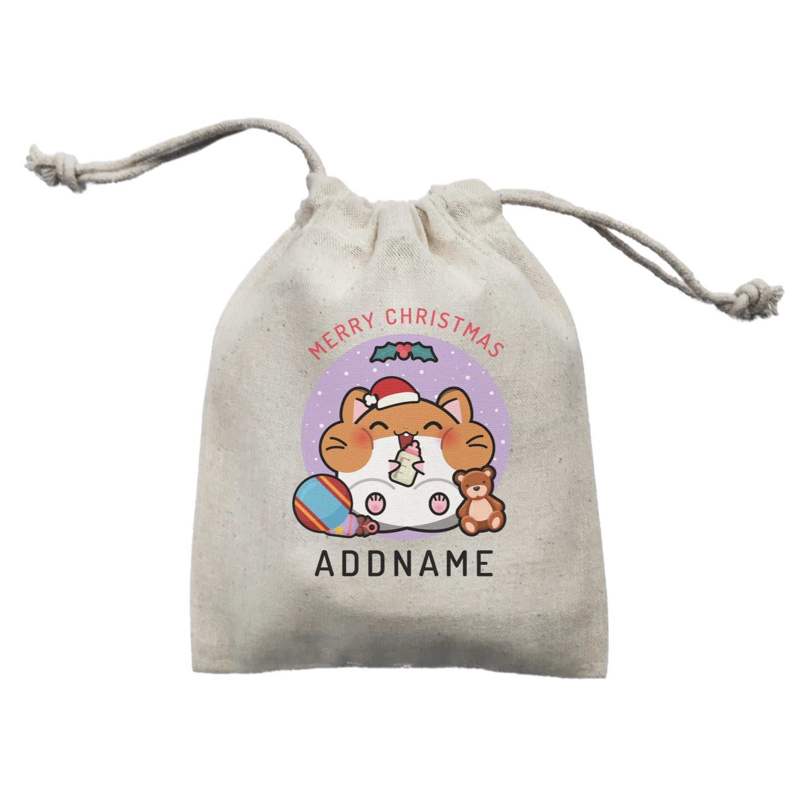 Merry Christmas Cute Santa Baby Hamster Mini Accessories Mini Pouch