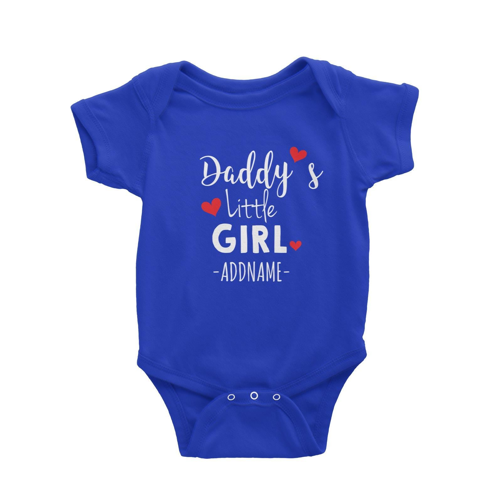 Daddy's Little Girl Addname Baby Romper Personalizable Designs Basic Newborn
