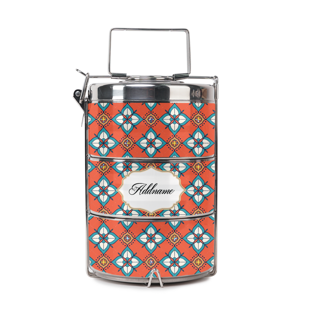 [RAYA 2021] Chromatic  Russet Red Tiffin Carrier