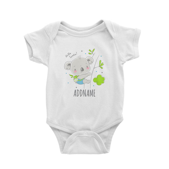 Koala Hello Sweetie White Baby Romper Personalizable Designs Cute Sweet Animal Australia HG