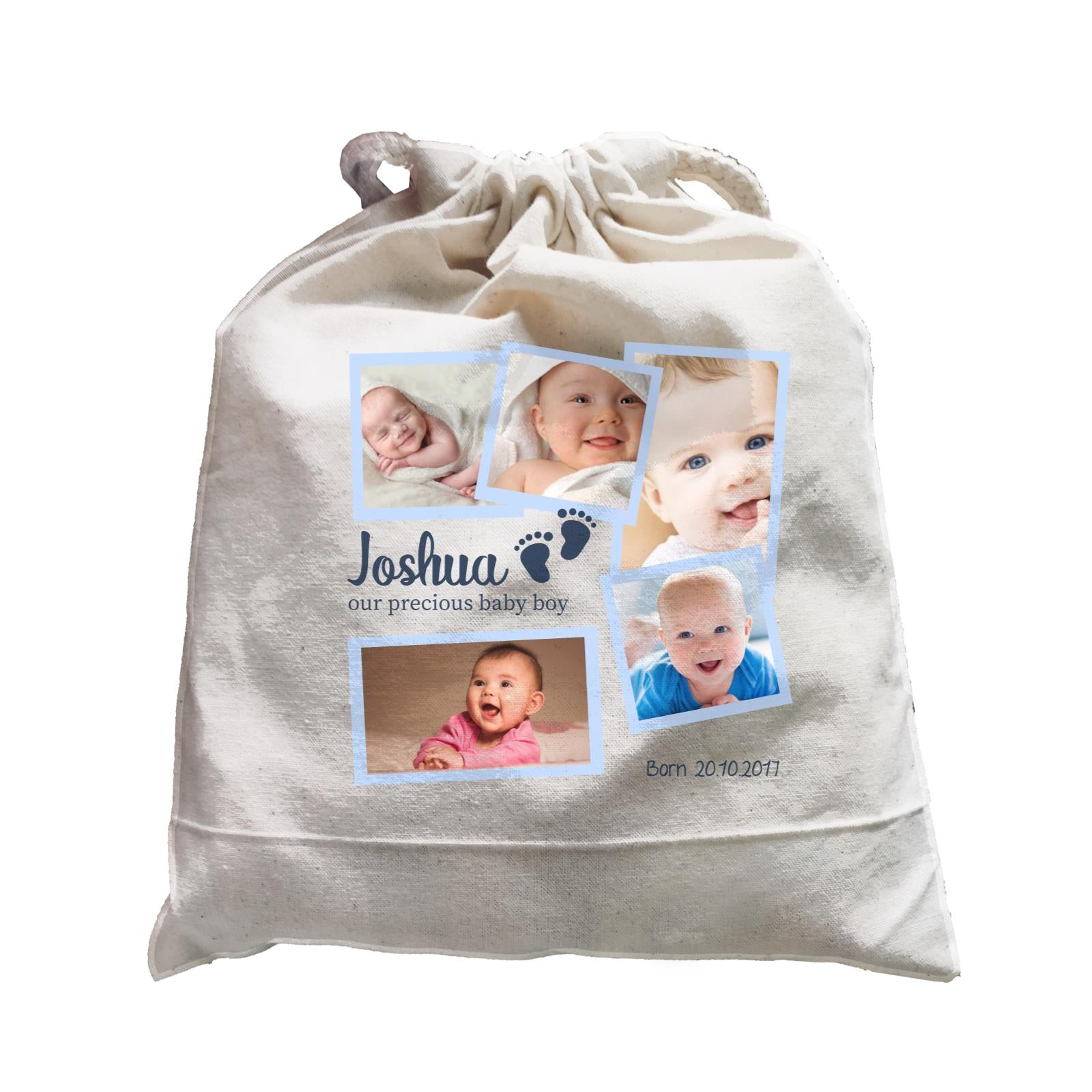 Photo Gift Series Sweet Baby Boy Milestone Satchel