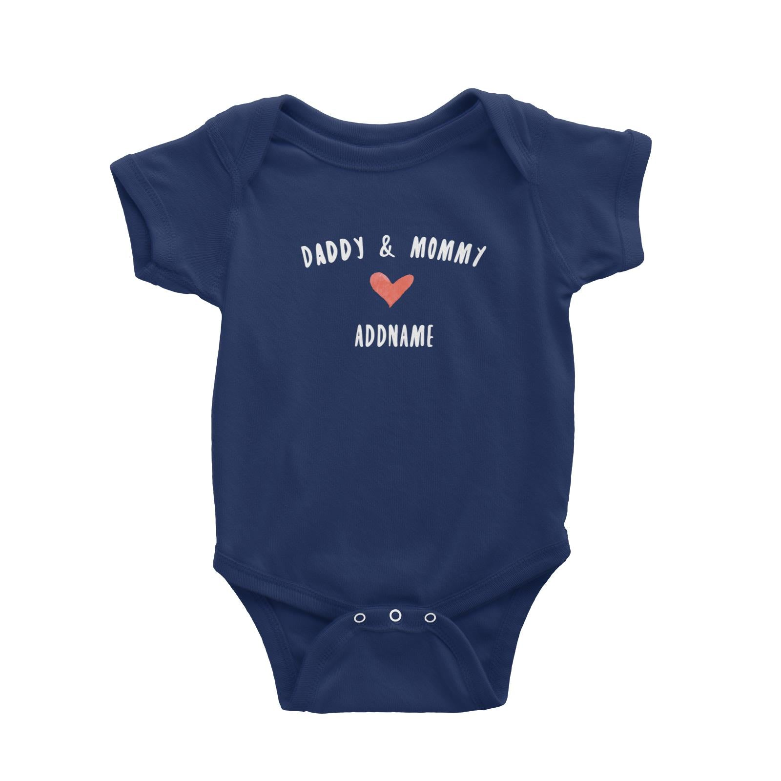Daddy & Mommy Love Addname Baby Romper  Matching Family Personalizable Designs