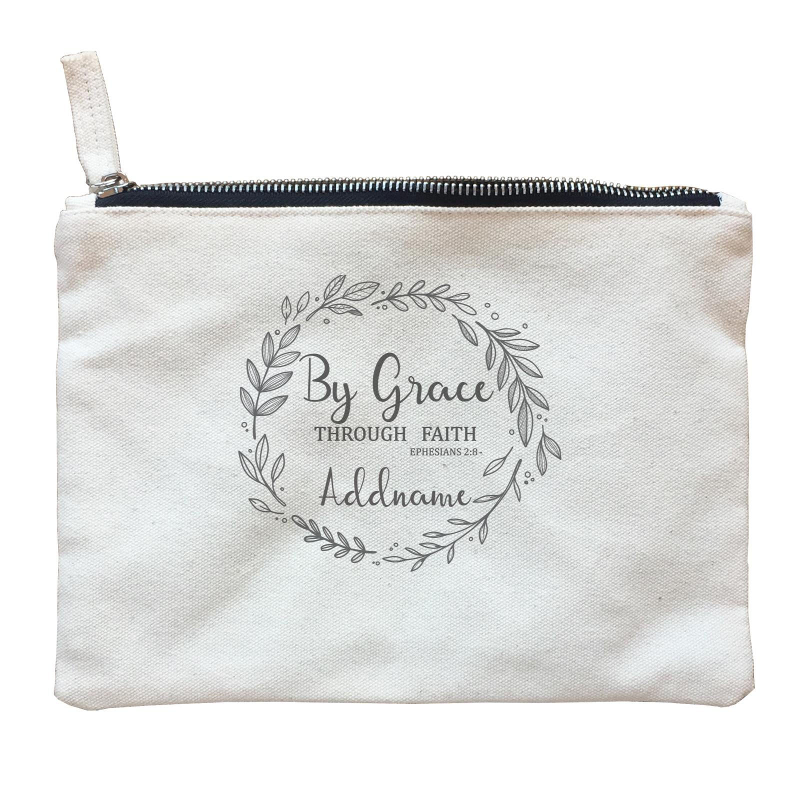 Christian Series By Grace Throug Faith Ephensians 2.8 Addname Zipper Pouch