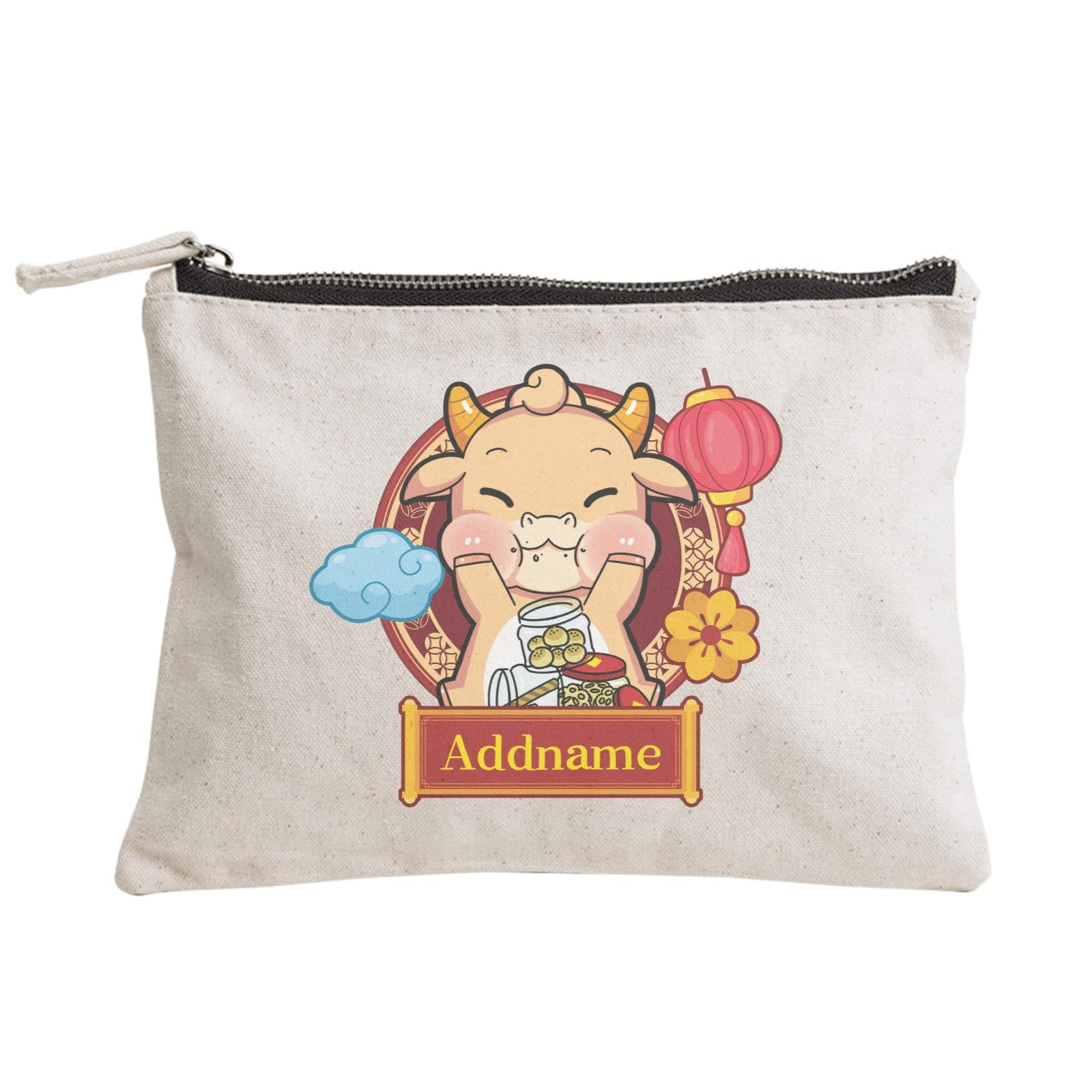 [CNY 2021] Golden Cow with New Year Treats Zipper Pouch