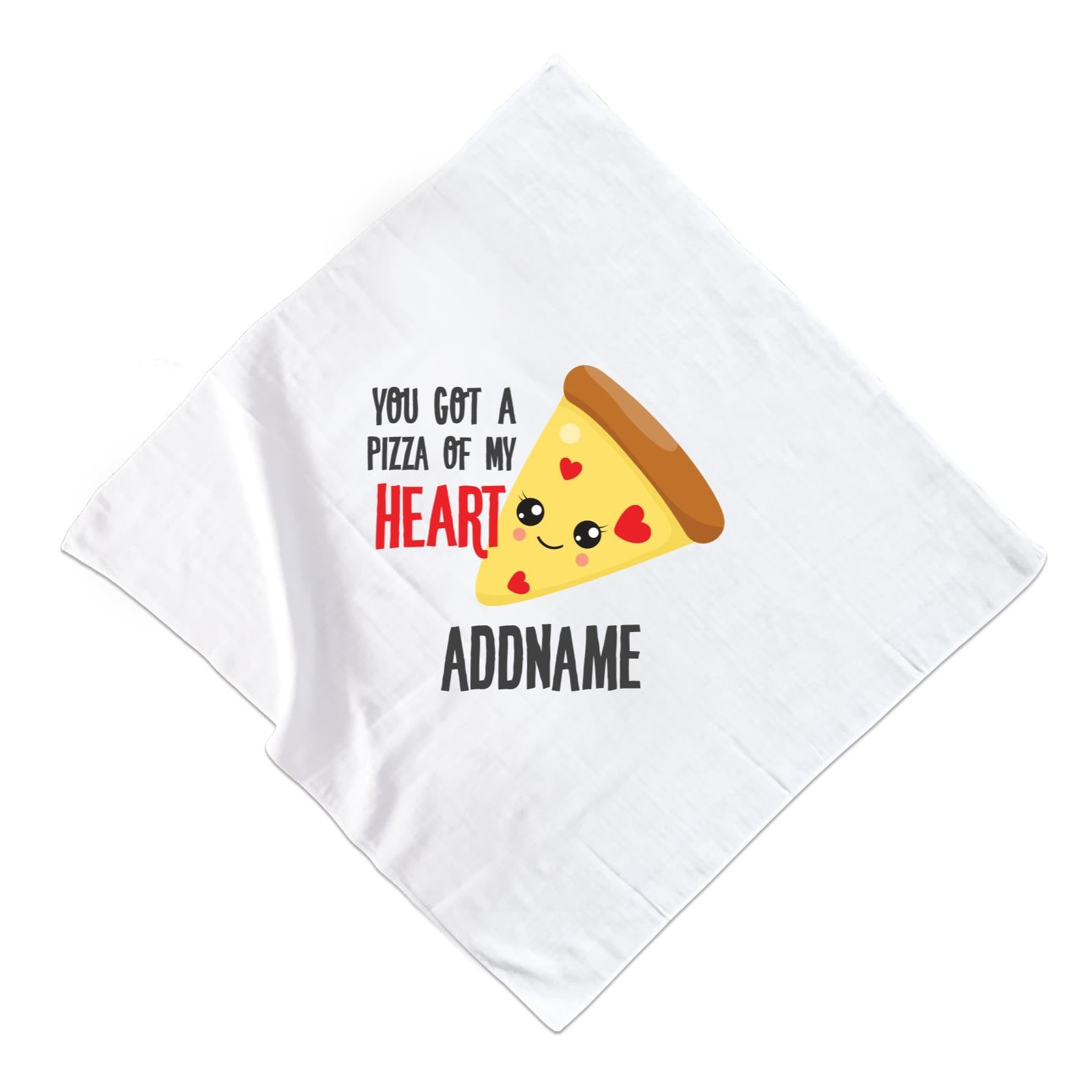 Love Food Puns You Got A Pizza Of My Heart Addname Muslin Muslin Square