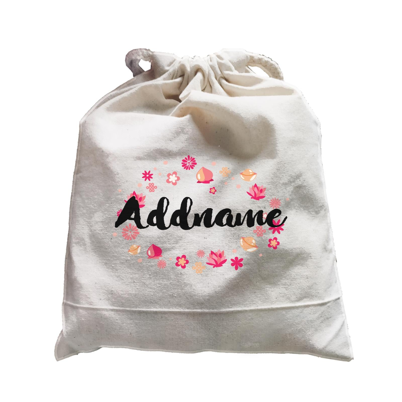 Chinese New Year Addname with Chinese New Year Elements Ang Pao Bag Satchel  Personalizable Designs