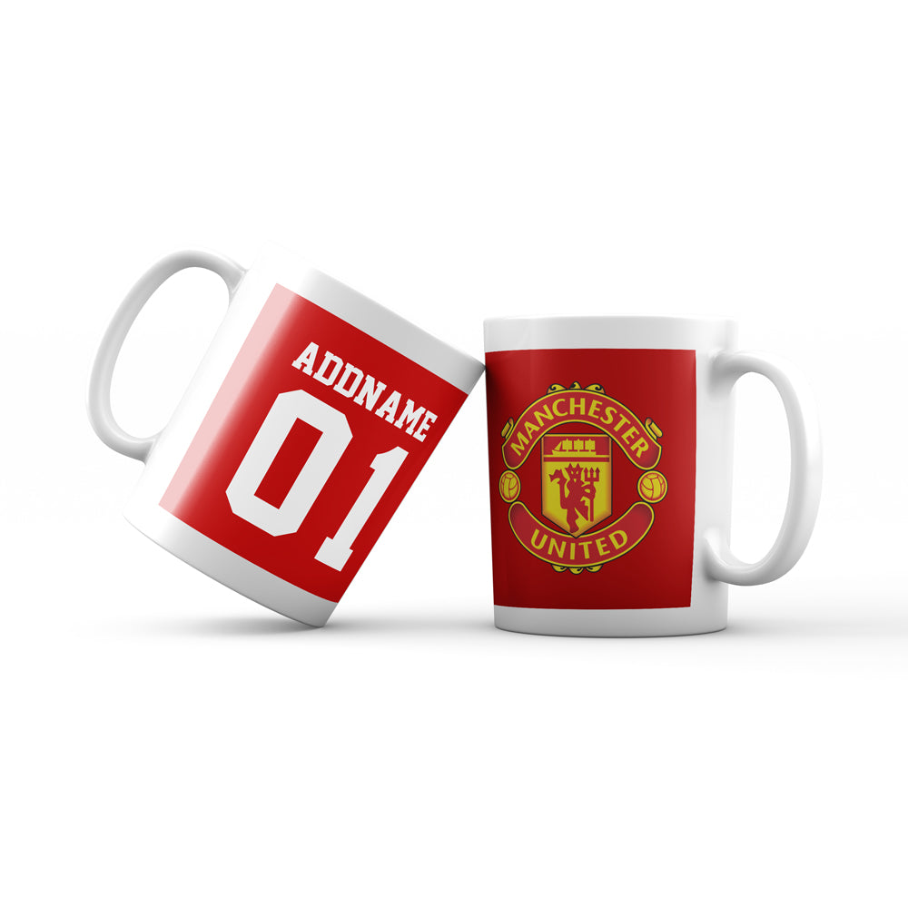 Manchester United Football Fan Mug Personalizable with Name and Number