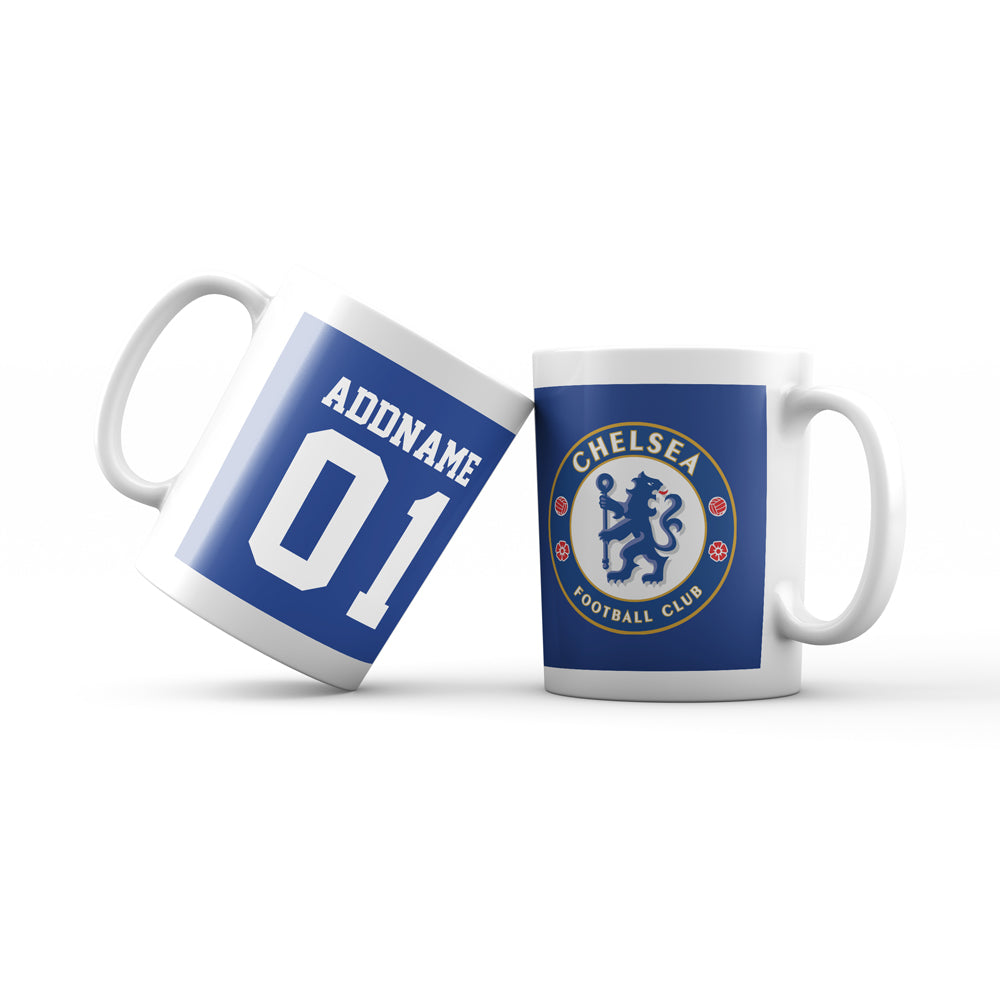 Chelsea Football Fan Mug Personalizable with Name and Number