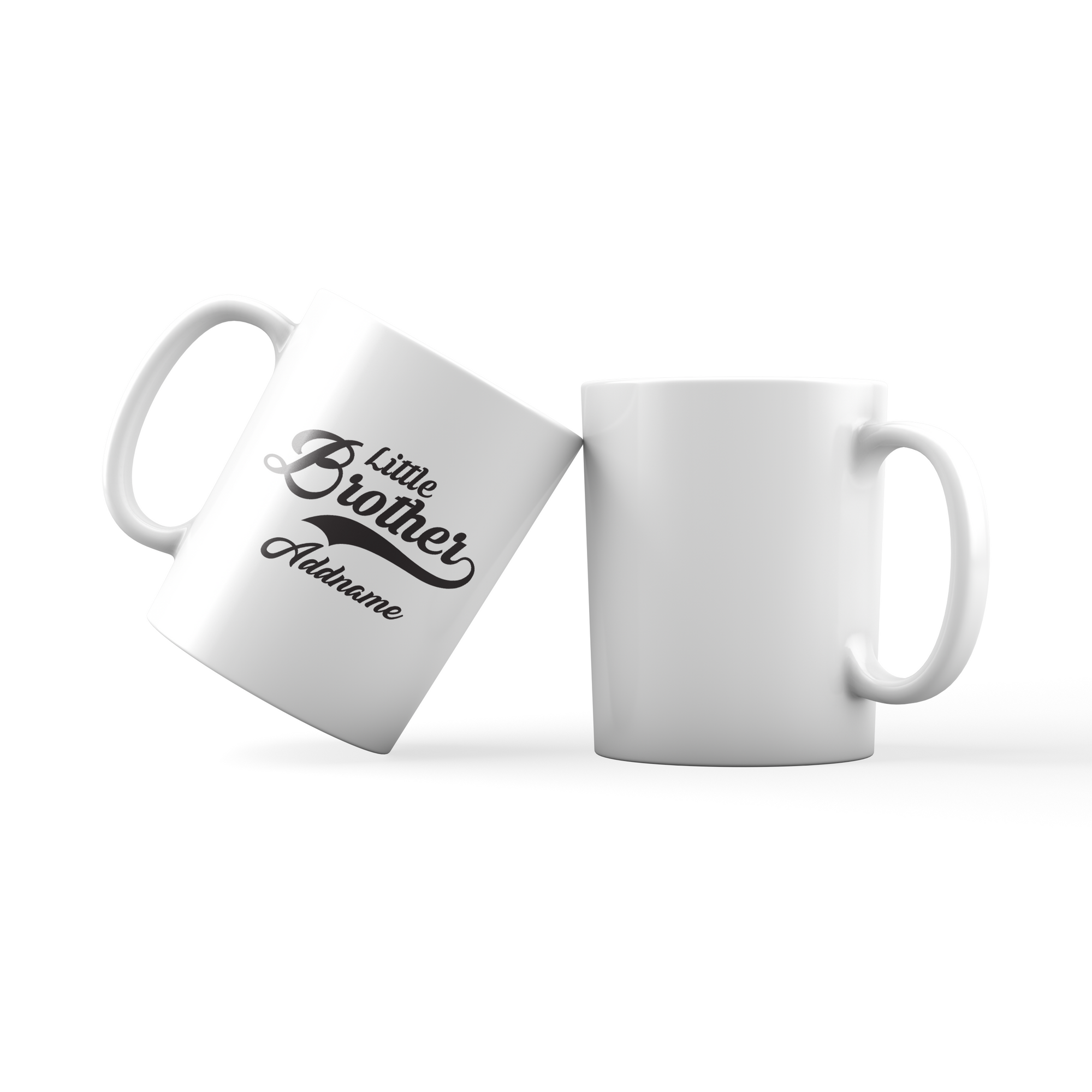 Retro Little Brother Addname Mug