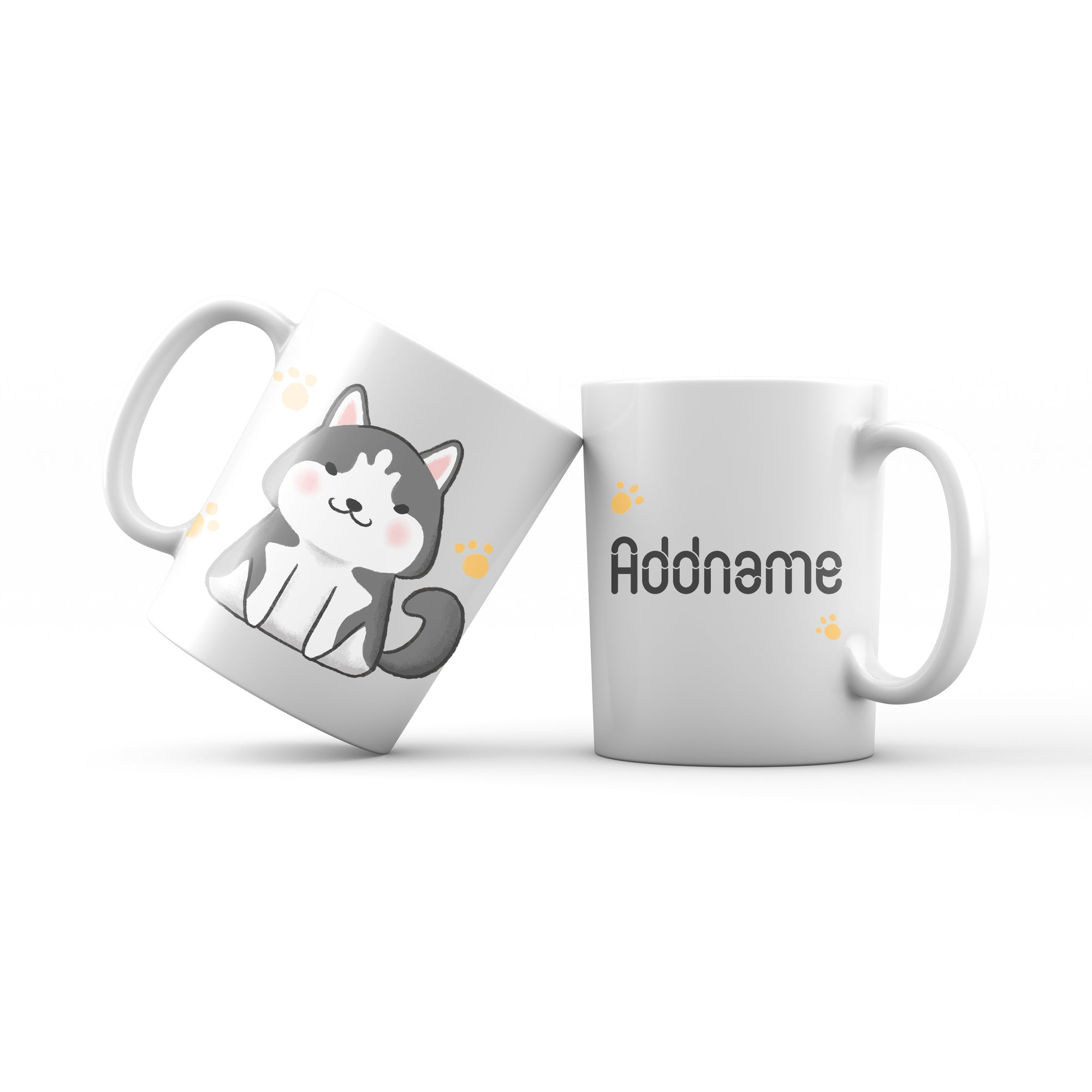 Cute Hand drawn Animals Dogs Husky Addname Mug