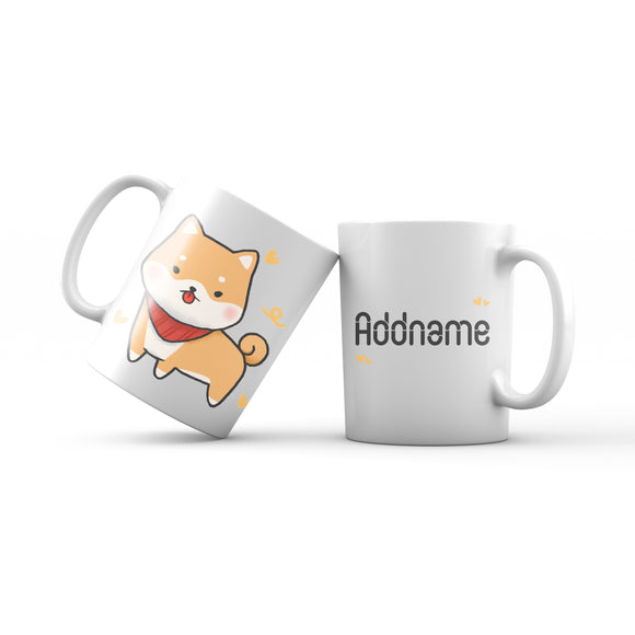 Cute Hand drawn Animals Dogs Shiba Addname Mug