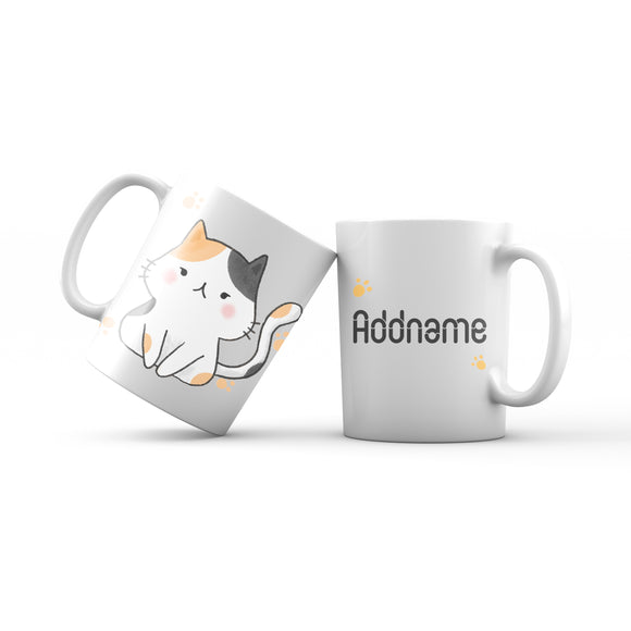 Cute Hand drawn Animals Cats Cat Addname Mug