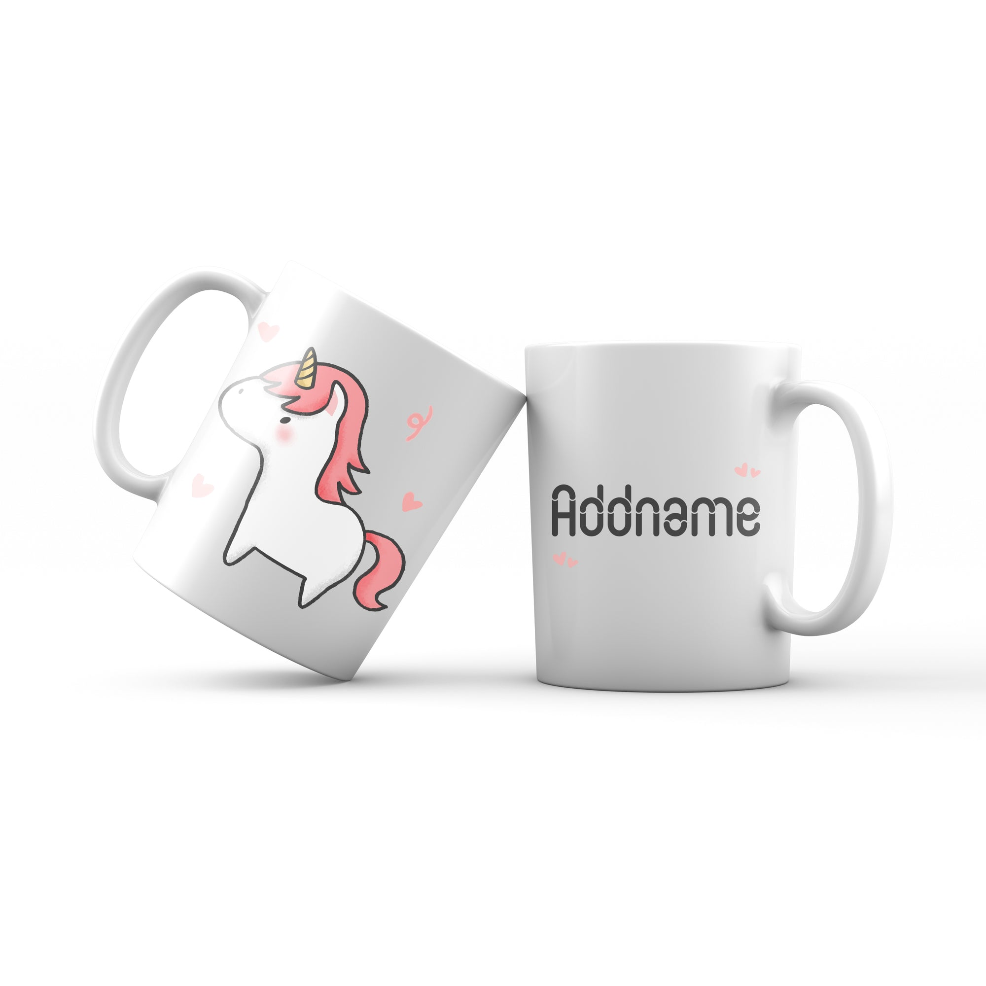 Cute Hand drawn Animals Cute Unicorn Addname Mug