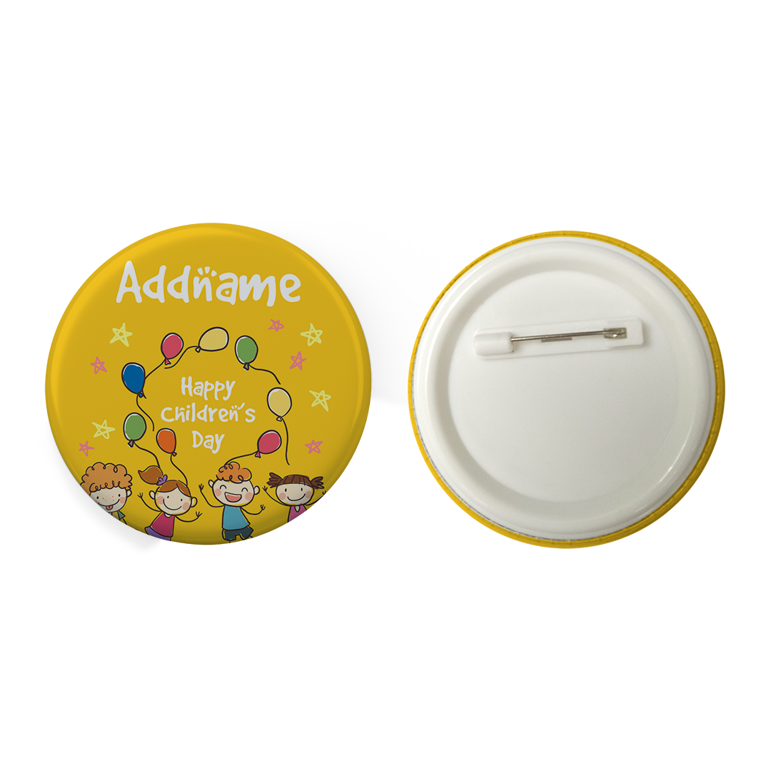 Children's Day Gift Series Four Cute Children With Balloons Addname Button Badge with Back Pin (58mm)