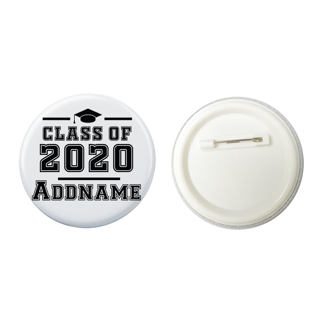 Graduation Series Simple Cap Class of Year Button Badge with Back Pin (58mm)