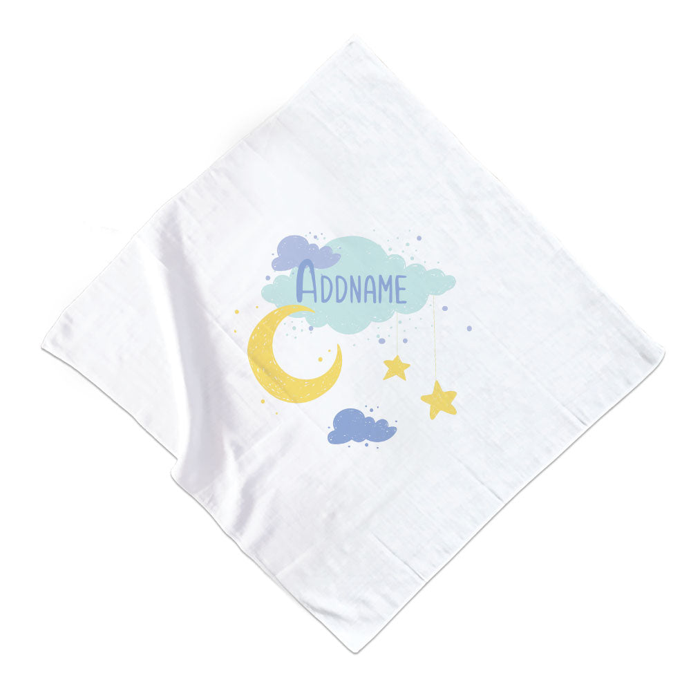 Boy Baby Moon And Stars Muslin