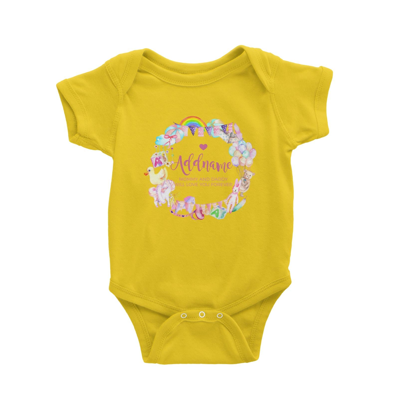 Watercolour Magical Girlish Creatures and Elements Personalizable with Name and Text Baby Romper