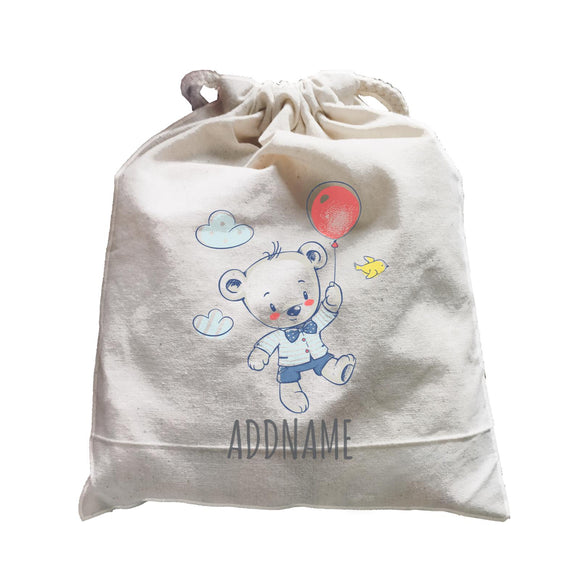 Boy Bear on Balloon Satchel Personalizable Designs Cute Sweet Animal For Boys HG