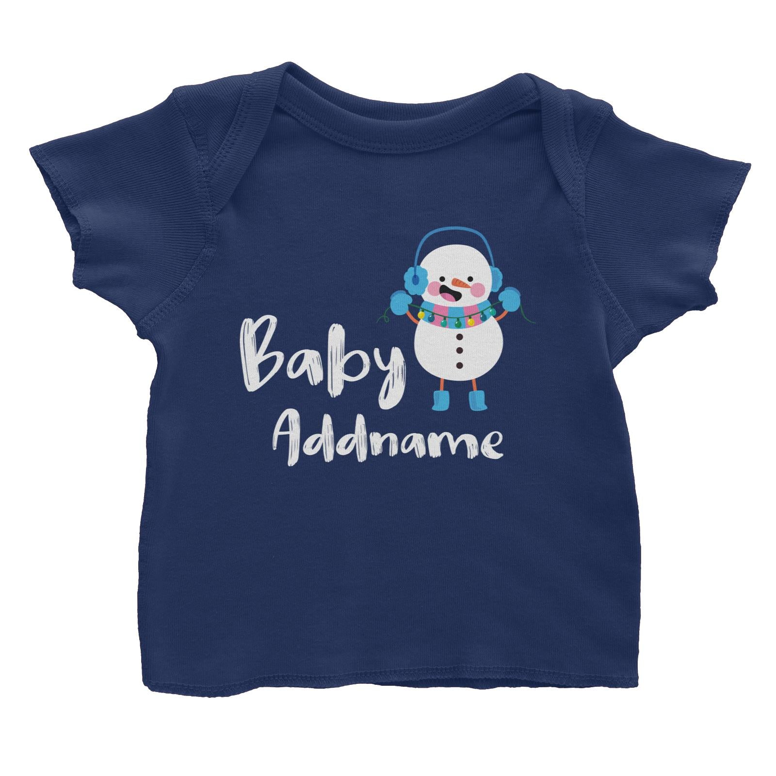 Christmas Series Baby Snowman Baby T-Shirt