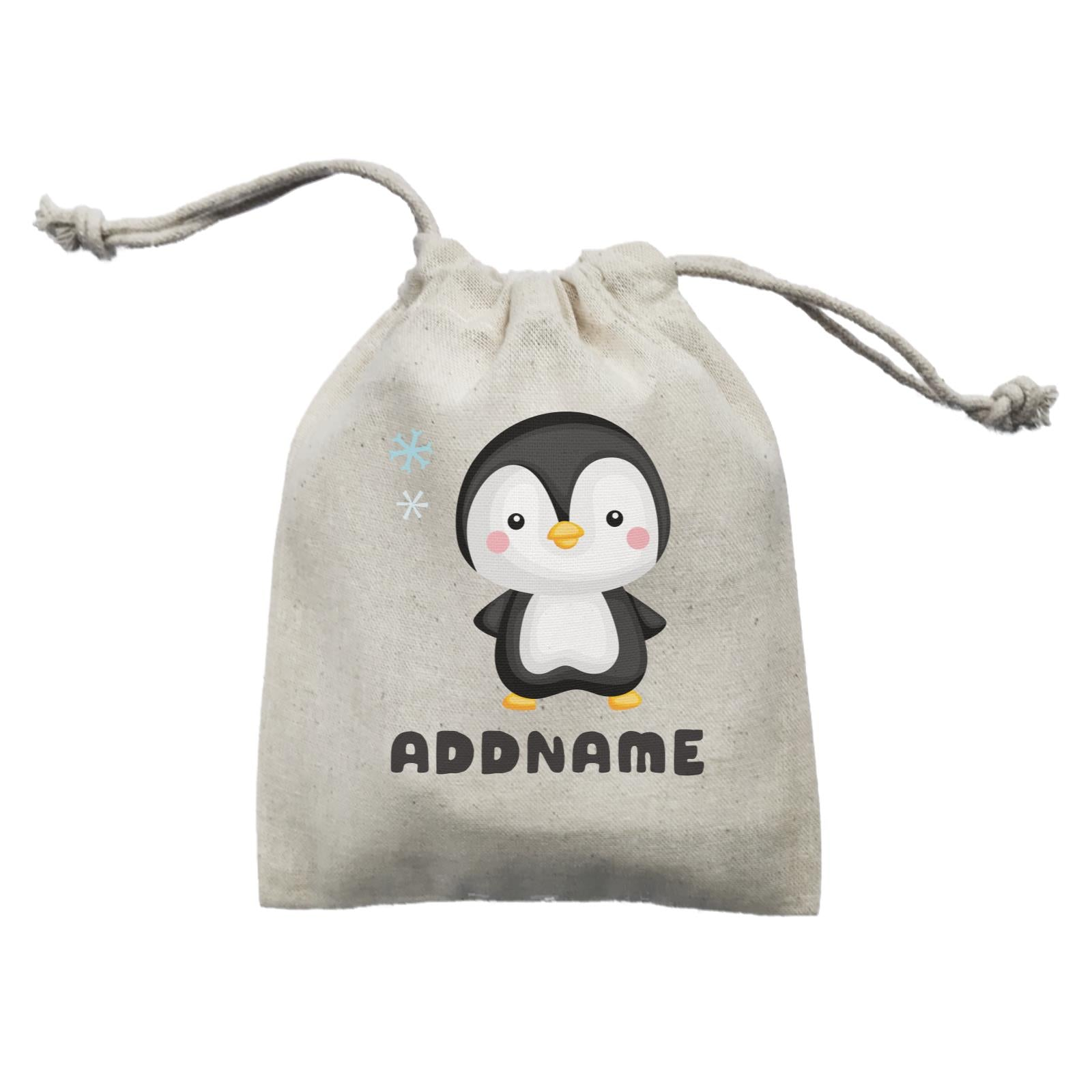 Birthday Winter Animals Small Penguin Addname Mini Accessories Mini Pouch