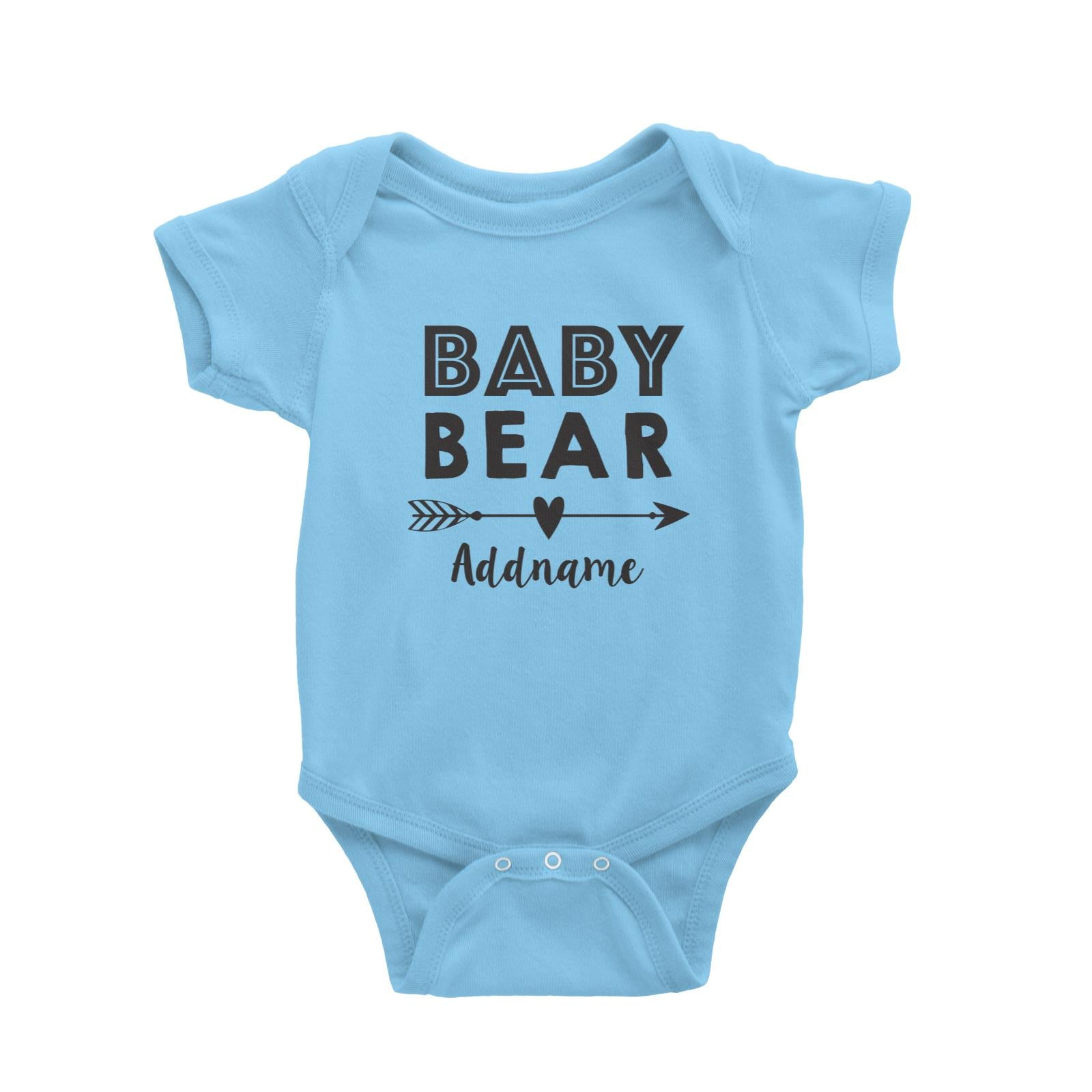Baby Bear Addname Baby Romper  Matching Family Personalizable Designs