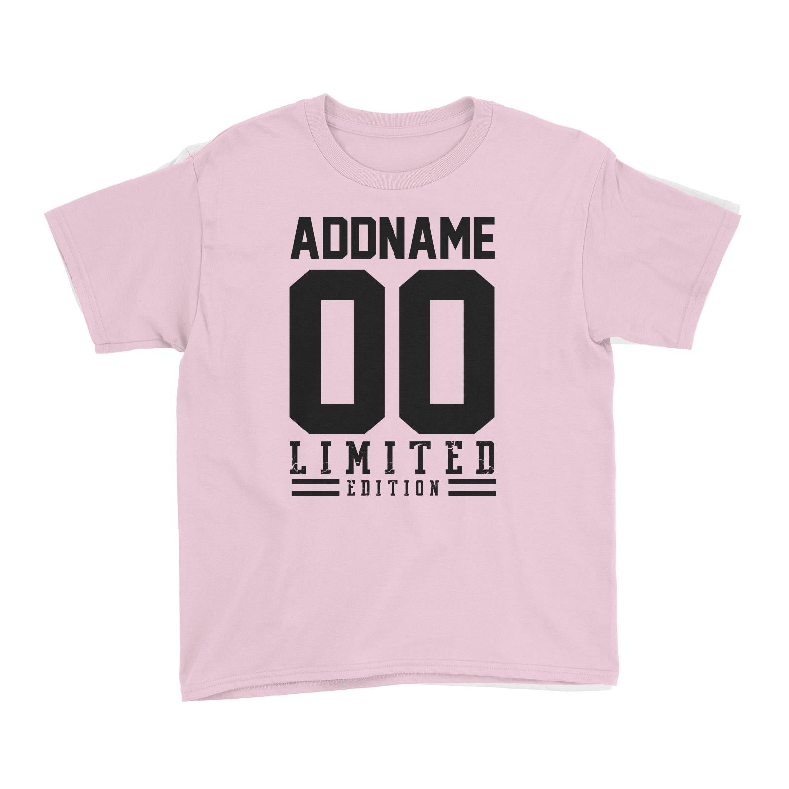 Limited Edition Jersey Personalizable with Name and Number Kid's T-Shirt