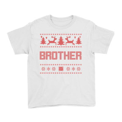 Christmas Sweater Brother Kid's T-Shirt  Matching Family