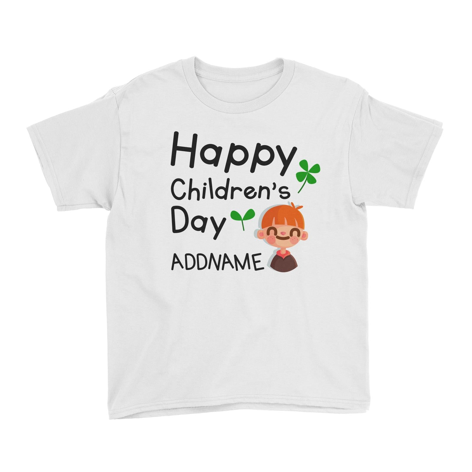 Children's Day Gift Series Happy Children's Day Cute Boy Addname Kid's T-Shirt