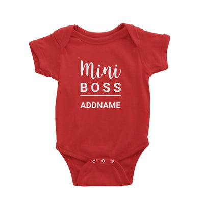 Mini Boss Addname Baby Romper  Matching Family Personalizable Designs
