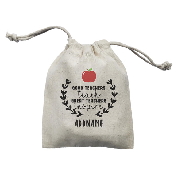 Great Teachers Good Teachers Teach Great Teachers Inspire Addname Mini Accessories Mini Pouch