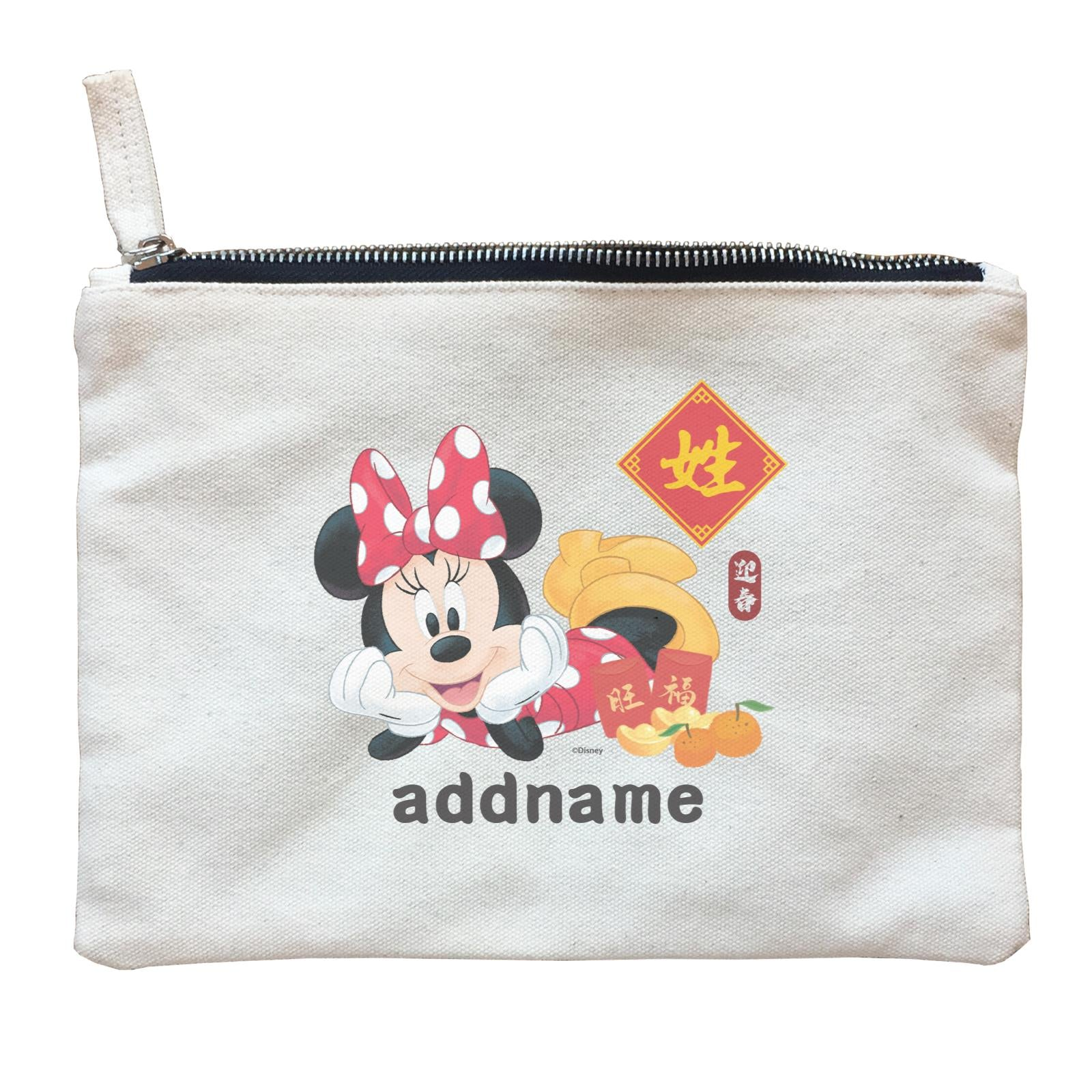 Disney CNY Minnie With Prosperity Elements Personalised ZP Zipper Pouch