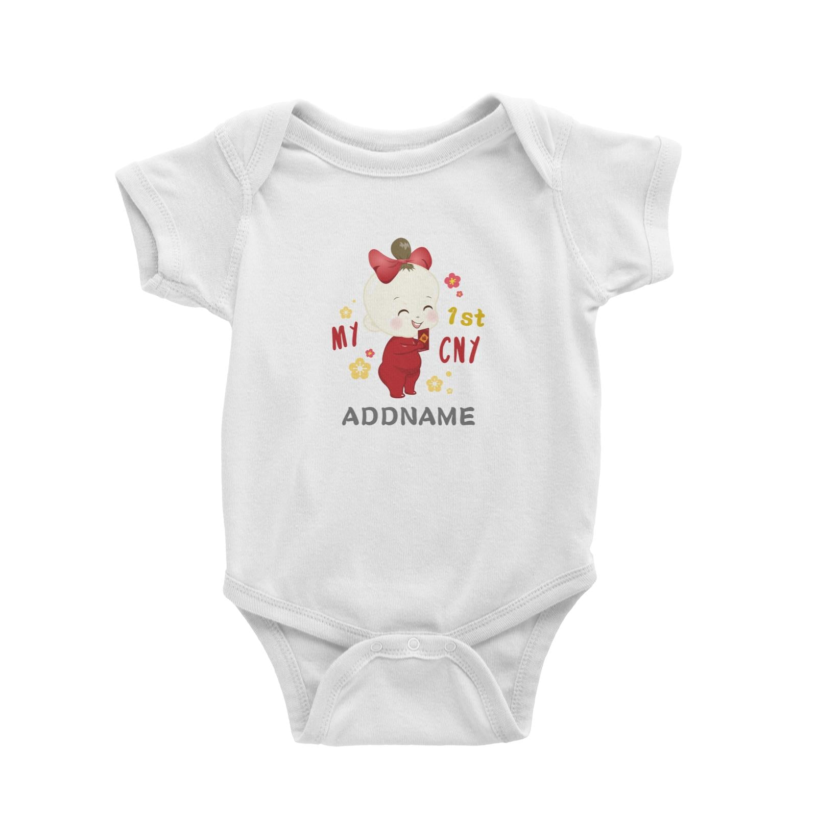 Chinese New Year Family My 1st CNY Baby Girl Addname Baby Romper