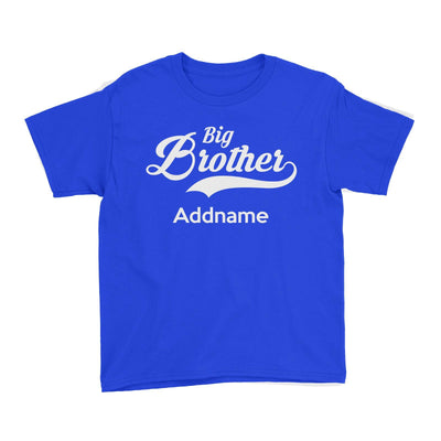 Retro Big Brother Addname Kid's T-Shirt  Matching Family Personalizable Designs