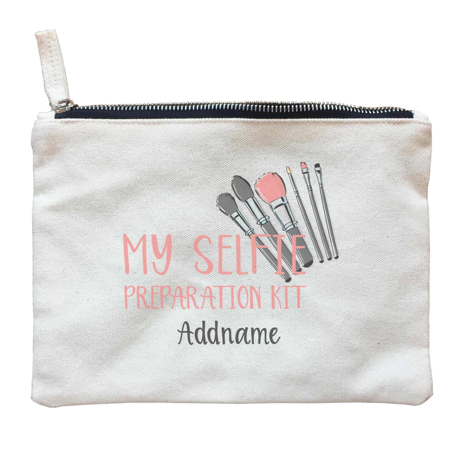 Make Up Quotes My Selfie Preparation Kit Addname Zipper Pouch