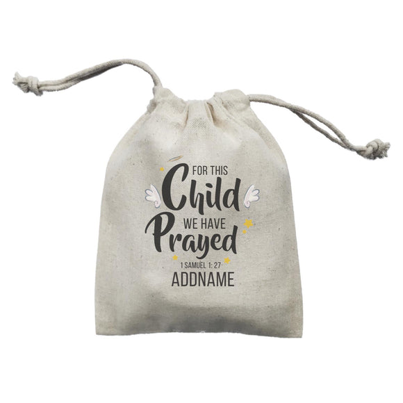 Gods Gift For This Child We Have Prayed 1 Samuel 1.27 Addname Mini Accessories Mini Pouch