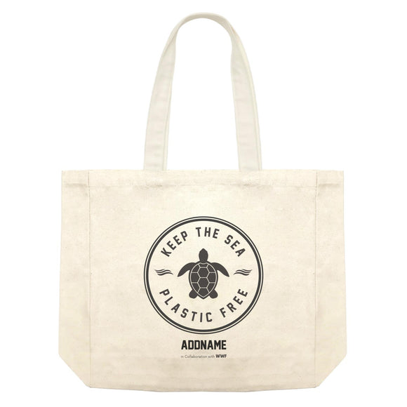 Keep The Sea Plastic Free Turtle Stamp Addname Shopping Bag