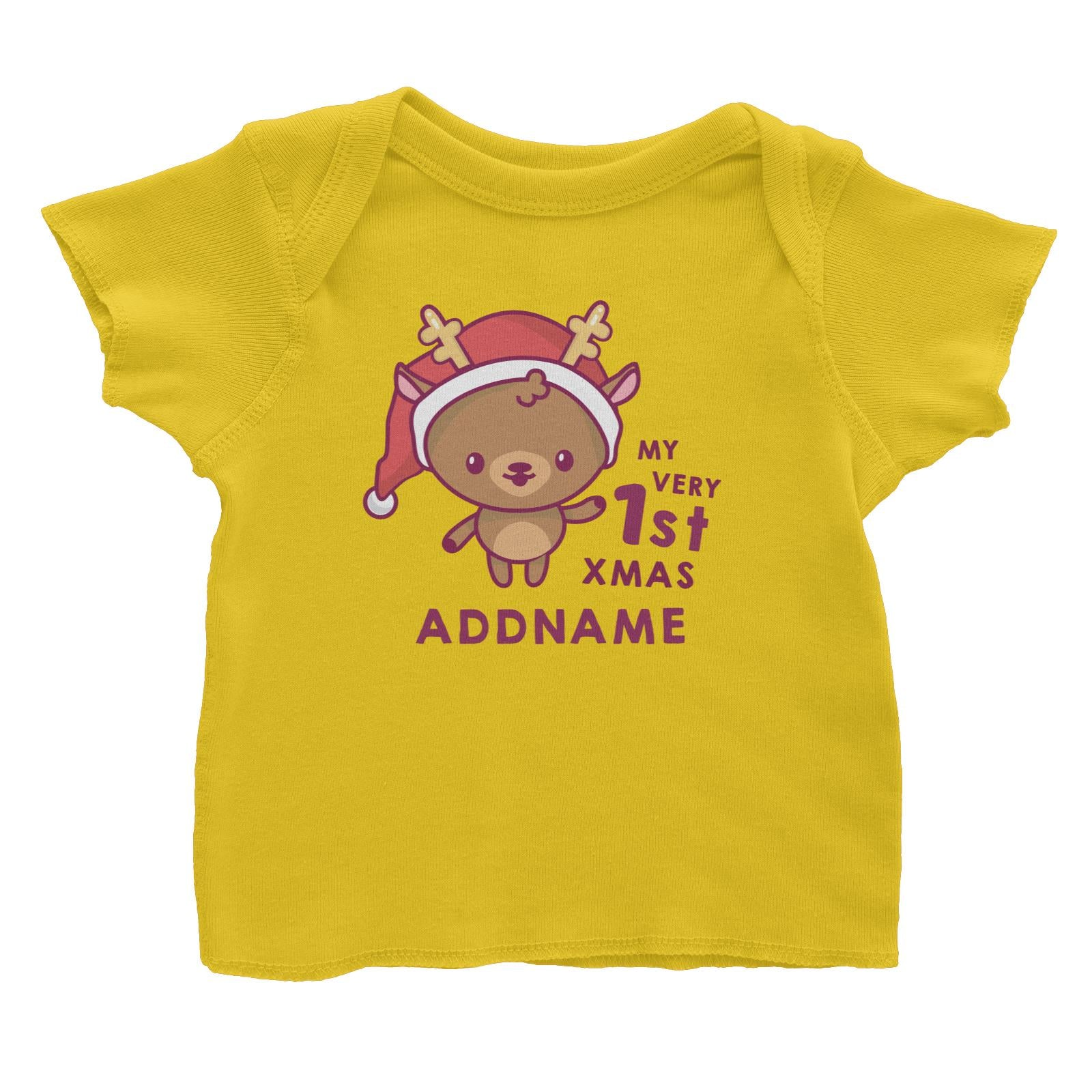Christmas My Very 1st Deer Addname Baby T-Shirt