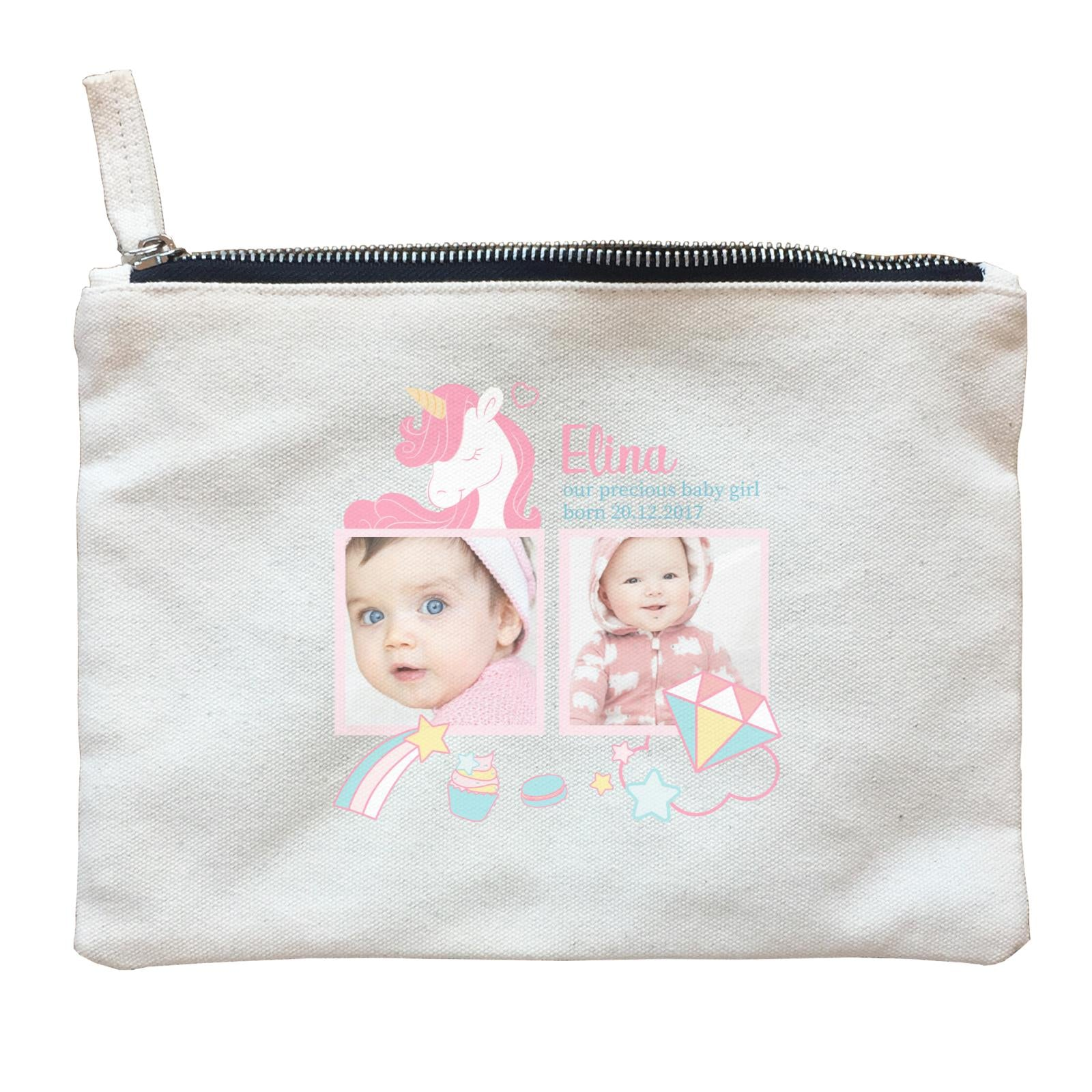 Photo Gift Series Sweet Unicorn Baby Girl Zipper Pouch