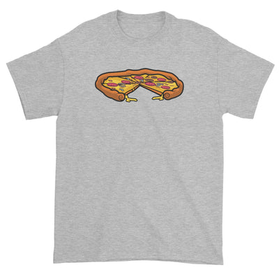 Fast Food Whole Pizza with A Slice Taken Out Unisex T-Shirt  Matching Family Comic Cartoon