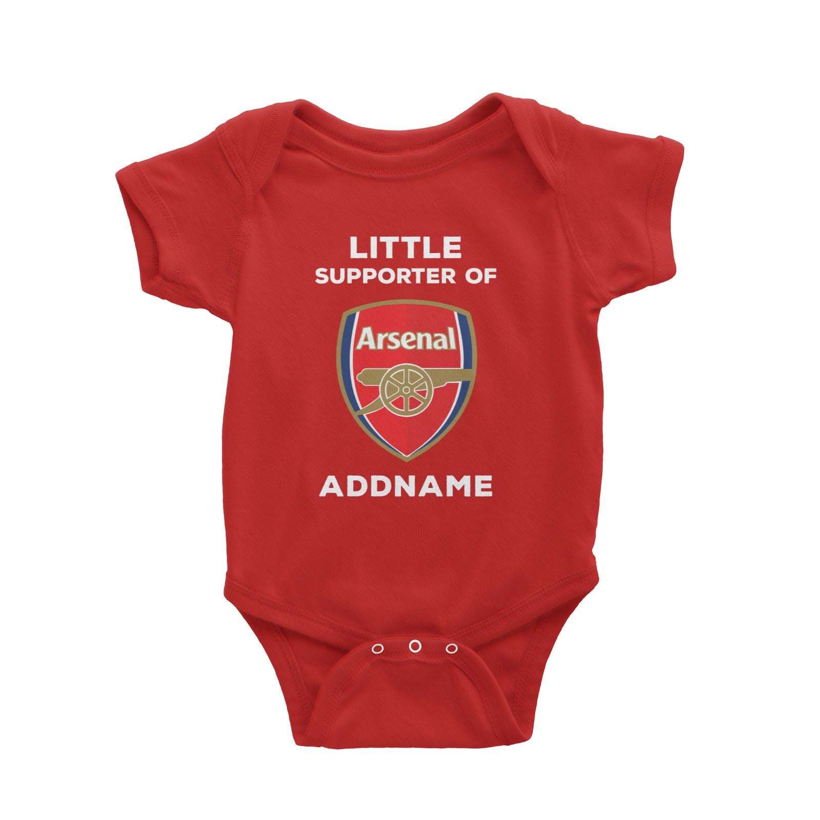 Arsenal FC Little Supporter Personalizable with Name Baby Romper