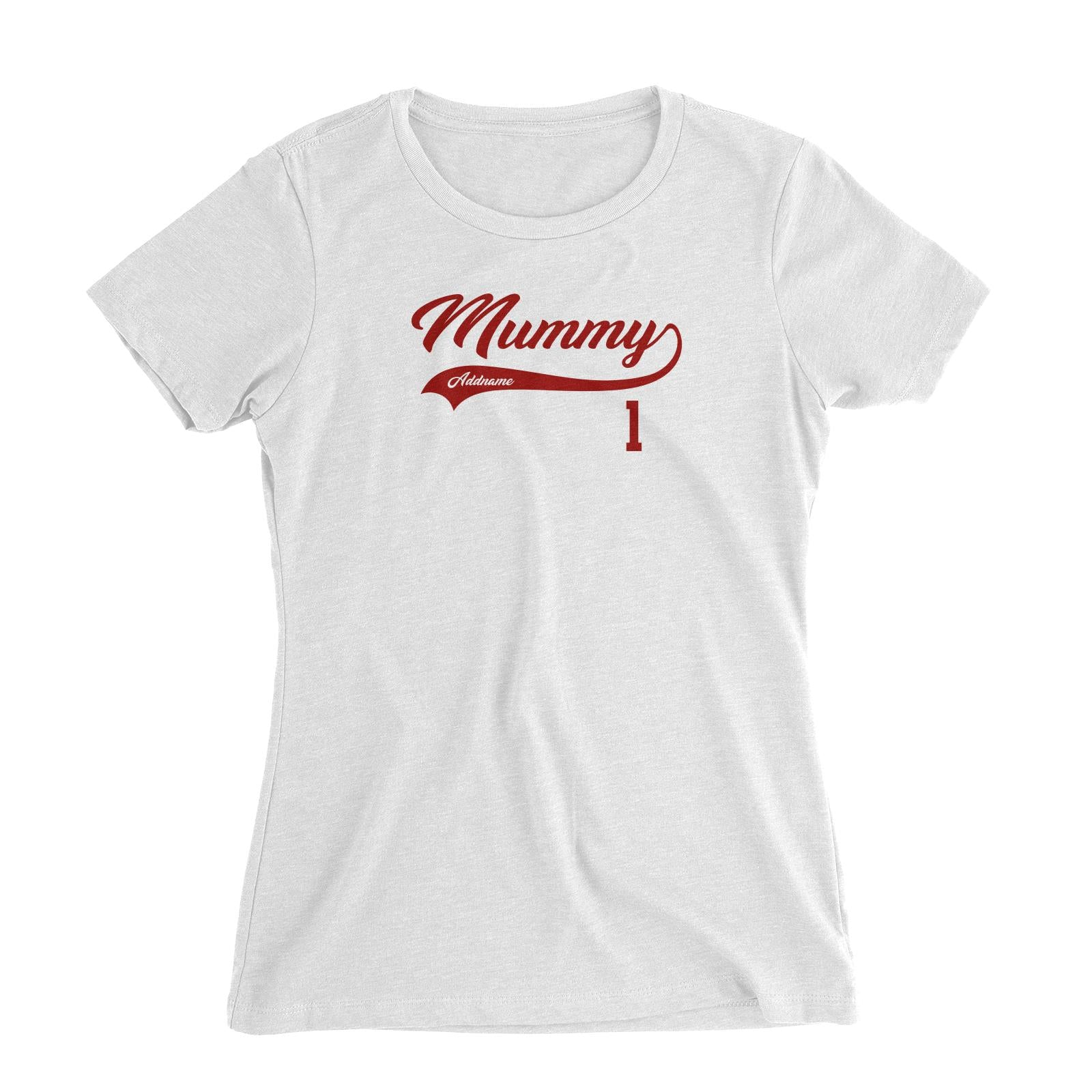 Mummy Retro No 1 Baseball Team Women's Slim Fit T-Shirt
