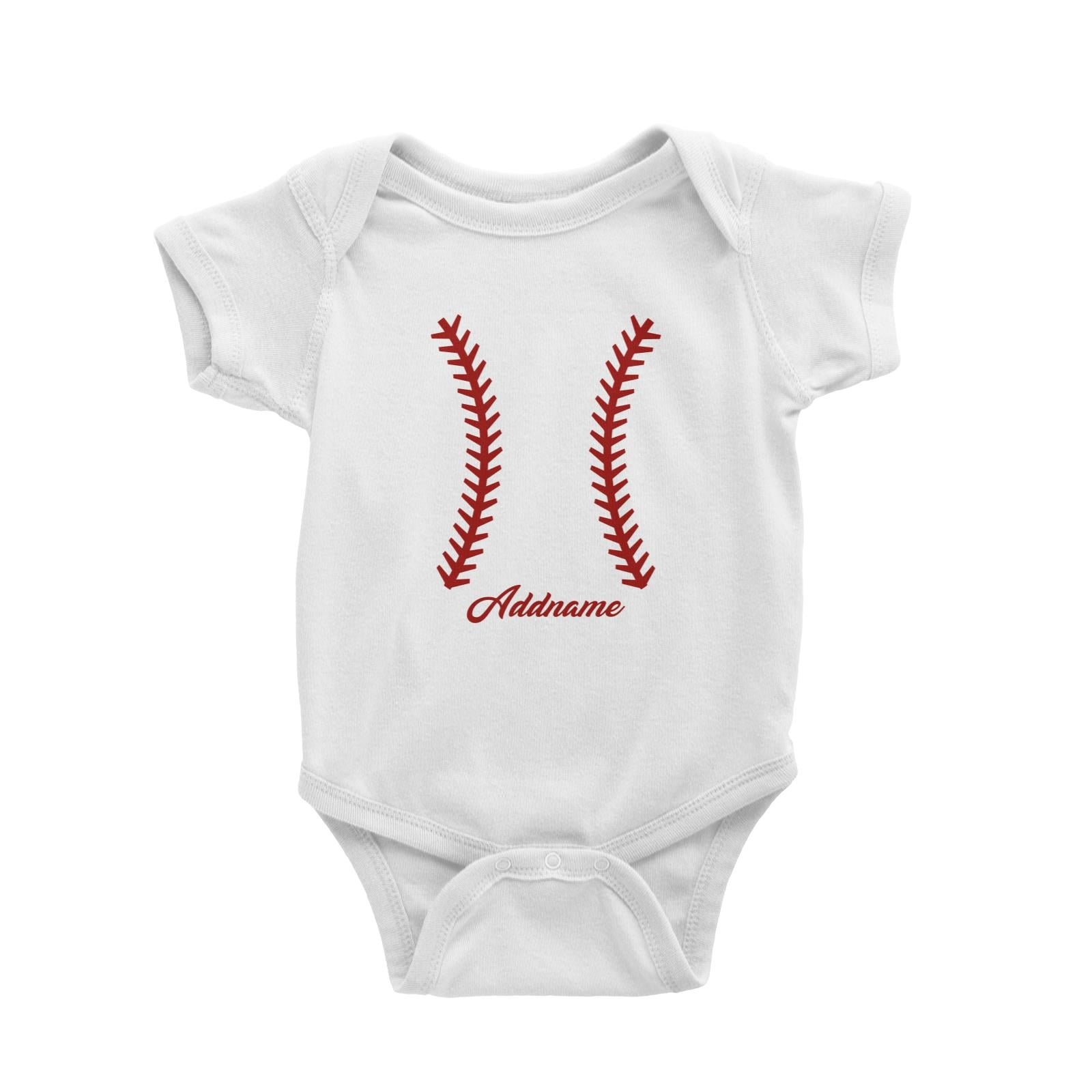 Baseball Team Stitch Baby Romper