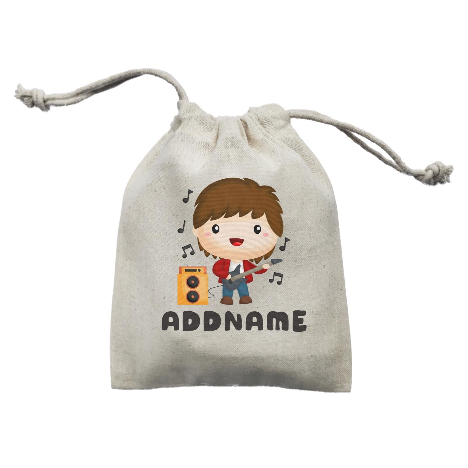 Birthday Music Band Boy Playing Bass Addname Mini Accessories Mini Pouch