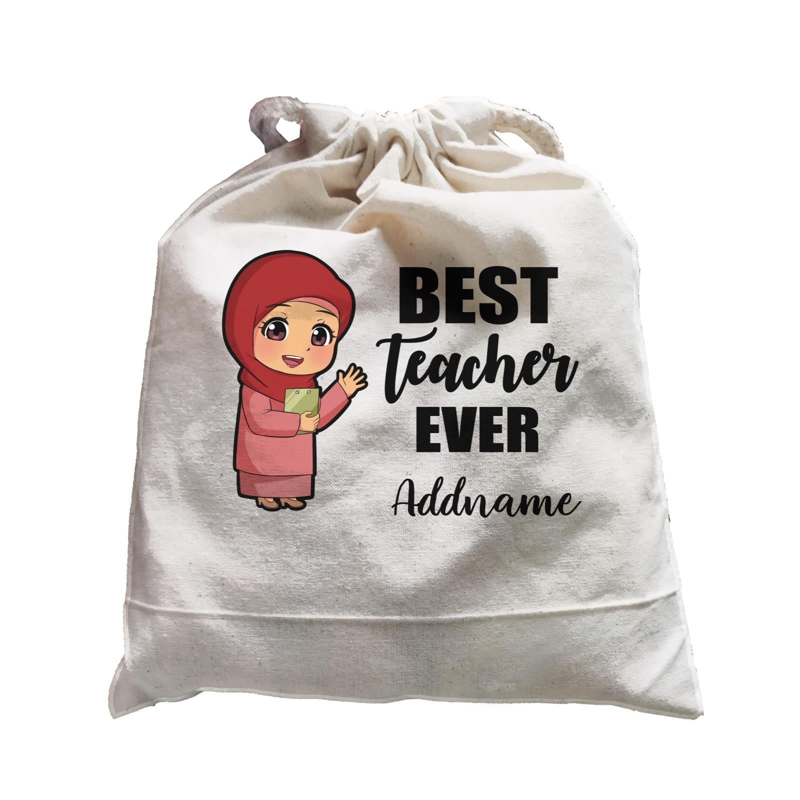 Chibi Teachers Malay Woman Best Teacher Ever Addname Satchel