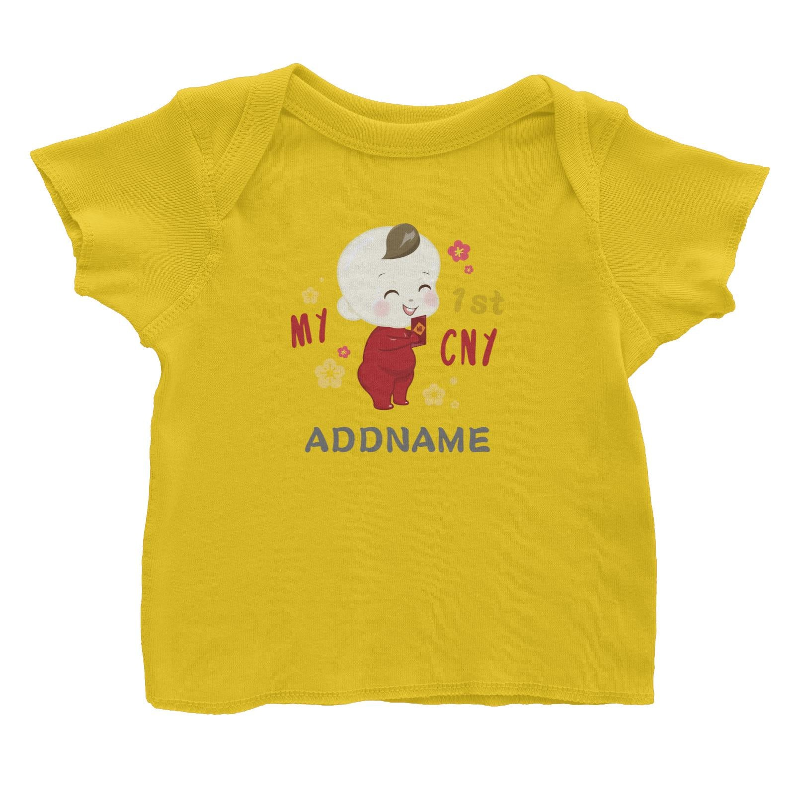Chinese New Year Family My 1st CNY Baby Boy Addname Baby T-Shirt